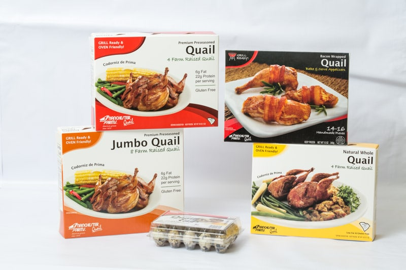 packaged quail products