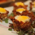 Idaho Hash Brown Baskets with Baked Quail Eggs